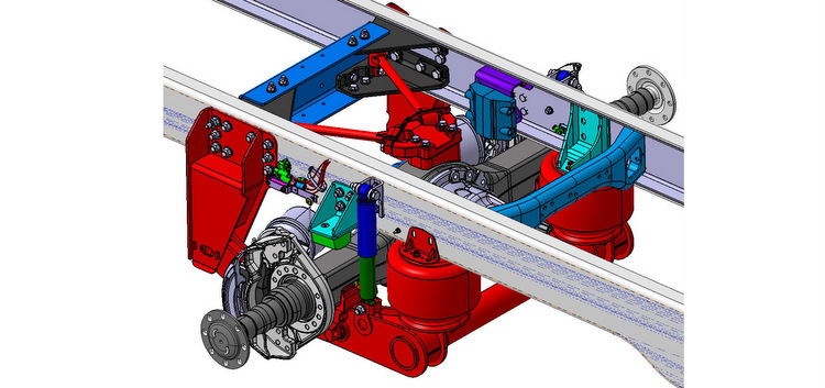 Freightliner Custom Chassis Corp. debuts V-Ride Rear Suspension