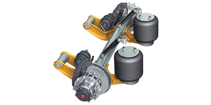 SAF-HOLLAND CBXy Series air suspension axle systems