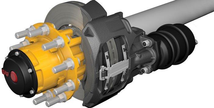 SAF INTEGRAL Air Disc Brake Axle Brake P89 Wheel End