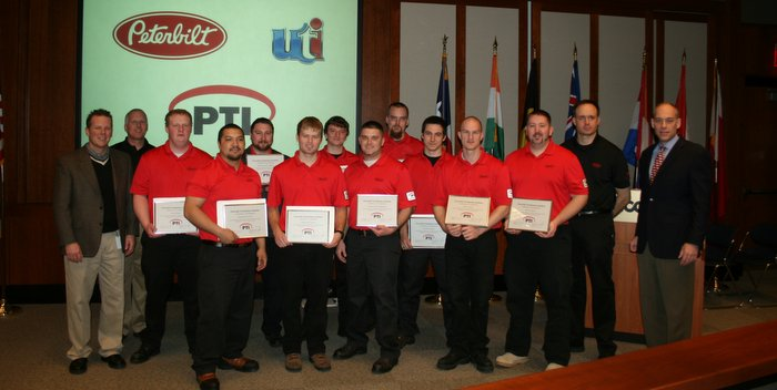 Peterbilt Technician Institute graduates first class