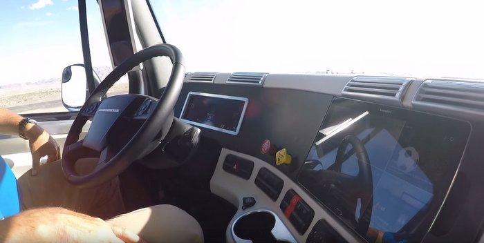 Inside Freightliner Inspiration Truck Autonomous