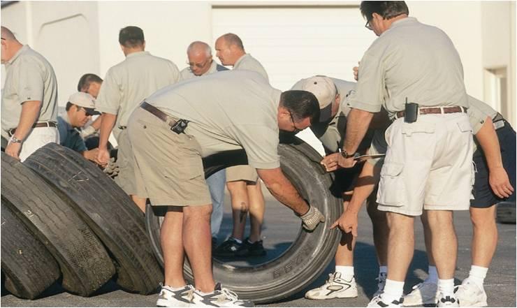 scrap heavy duty truck tire analysis