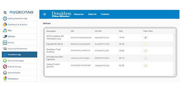 Donaldson-truck-filter-geotab-telematics-partnership-NACV