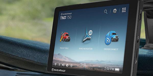 Rand McNally TND truck gps navigation devices.