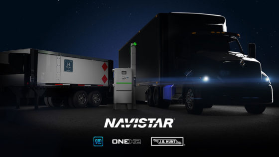 Navistar-GM-JB-Hunt-OneH2-Hydrogen-Long-haul-truck