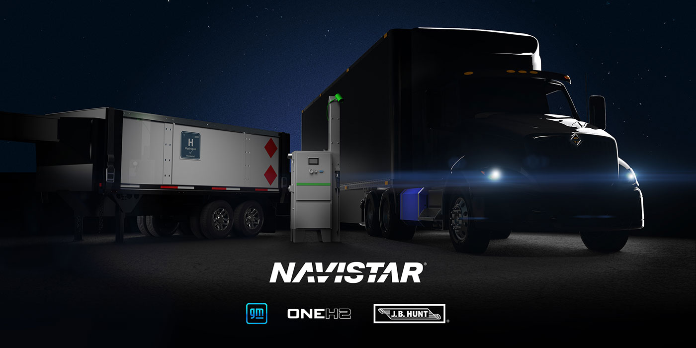 Navistar-GM-JB-Hunt-OneH2-Hydrogen-Long-haul-truck