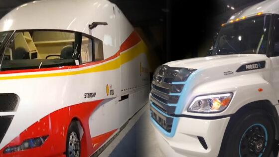 Trucking sustainability starship hino hydrogen